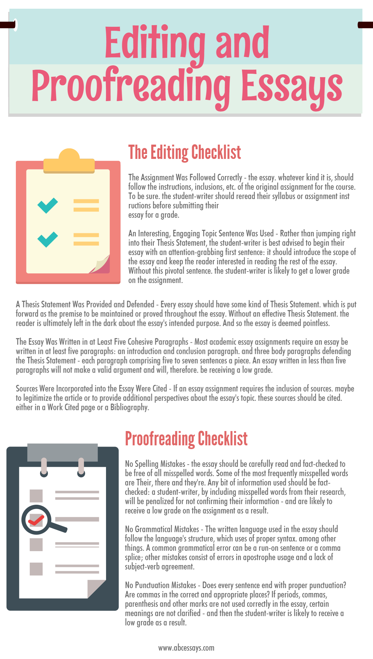 Essay Proofreading for Students